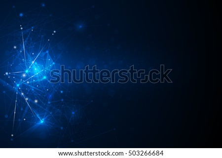 stock-vector-abstract-futuristic-molecules-technology-with-linear-and-polygonal-pattern-shapes-on-dark-blue