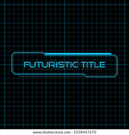 Abstract Futuristic Presentation Infographic User Interface HUD