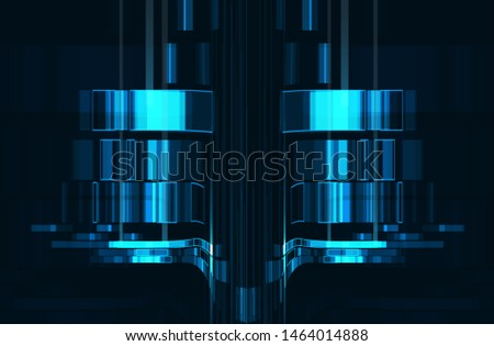 Abstract futuristic science background. Digital innovation concept for your design.