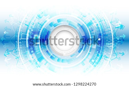 Abstract futuristic technological background with various technology elements. Hi-tech global communication.