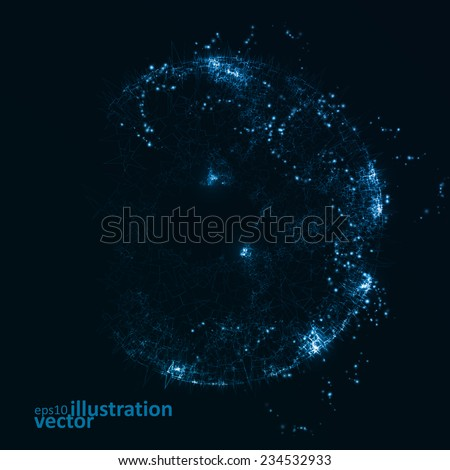 abstract futuristic vector