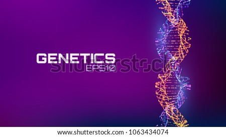 abstract fututristic dna helix