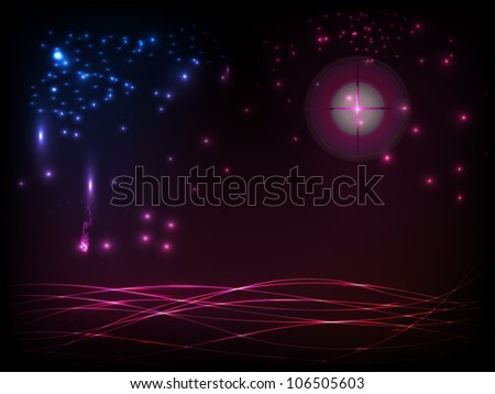 Abstract galactic space scape background with distant stars