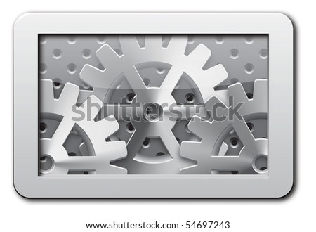 Abstract gear background - vector illustration - stock vector