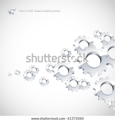 Abstract gear background. Vector illustration.