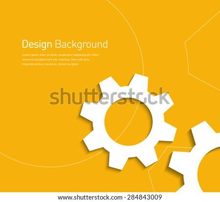 abstract gear wheels symbol