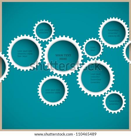 Abstract gear wheels. Vector design template