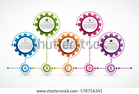 Abstract gears infographic. Design element. Infographics for business presentations or information banner