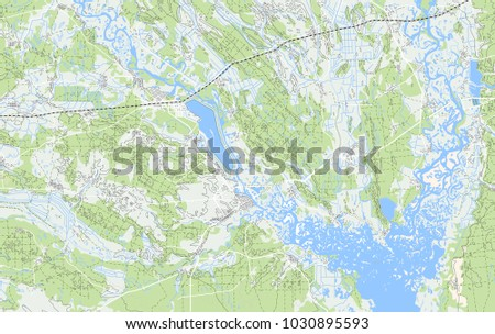 abstract geographical map