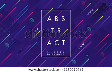 Abstract geometric background. Dynamic shapes composition.