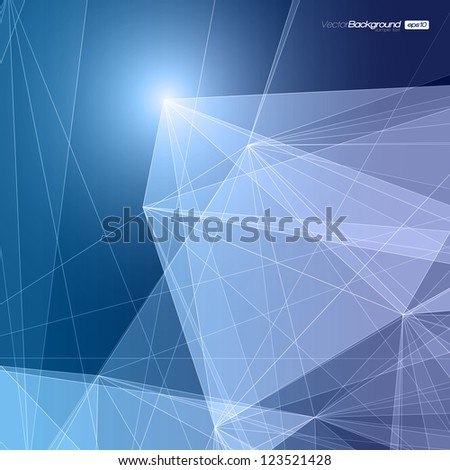 Abstract Geometric Background for Design   EPS10 Illustration
