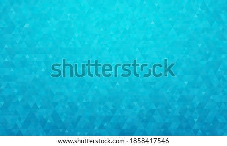 Abstract geometric background, pattern of triangles in blue-cyan, design for poster, banner, card and template. Vector illustration Stock photo ©