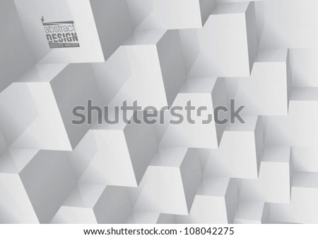 Abstract geometric background stacked cube, you can change colors