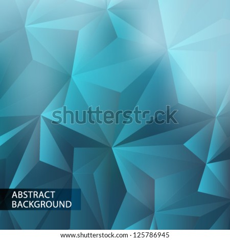 Abstract geometric background. Template for the poster, card, flyer or banner with a gradient of triangles.