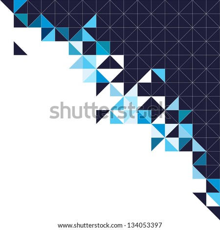 Abstract geometric background triangle and square black