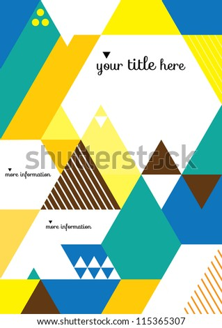 Abstract Geometric Background / Vector Illustration / Book Cover / Background Design / Graphics / Layout / Content Page