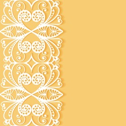 Abstract geometric background, wedding invitation or greeting card design with lace pattern, beautiful luxury postcard, ornate page cover, ornamental vector illustration