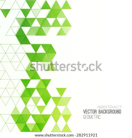 Abstract geometric background with color triangles. Vector illustration. Brochure design