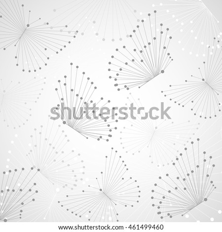 Abstract geometric background with connected lines and dots in a shape of butterflies. Vector illustration.