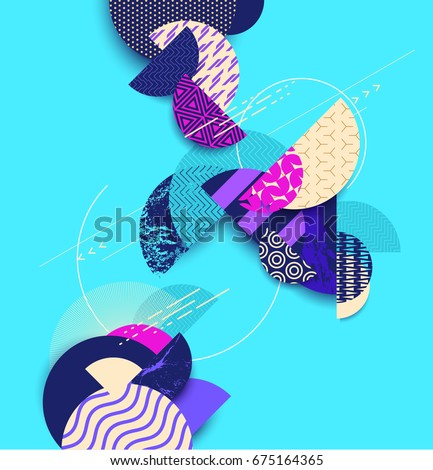 Abstract geometric background with decorative elements #675164365