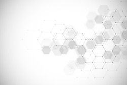 Abstract geometric background with hexagons. Digital technology background. Vector design for science, technology or medicine