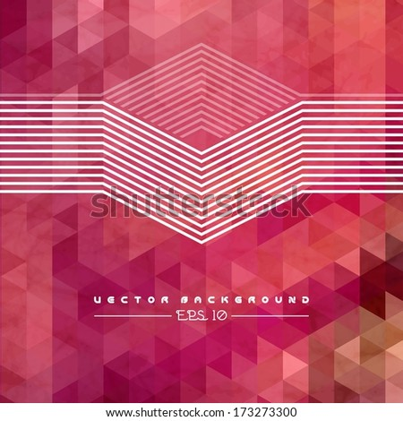 Abstract Geometric Background With Polygons. Info Graphics Composition With Geometric Shapes.Retro Label Design. Vector Illustration For Business Presentation
