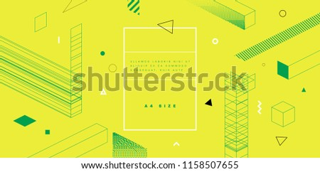 Abstract geometric background with trendy glitch art elements. Eps10 vector illustration