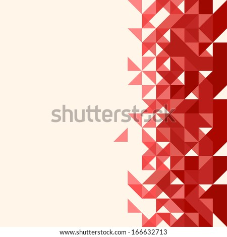 Abstract, geometric backgrounds. Red