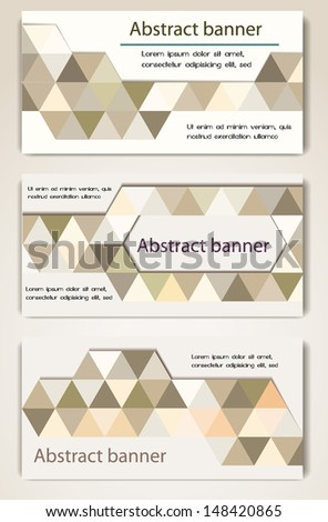 Abstract geometric banners #148420865