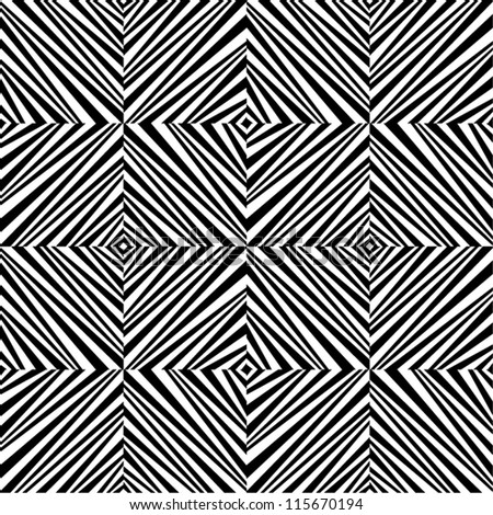 Abstract geometric black and white seamless pattern.