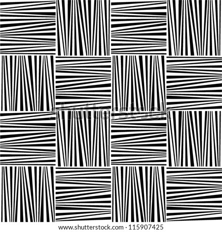 Abstract geometric black and white seamless pattern. - stock vector