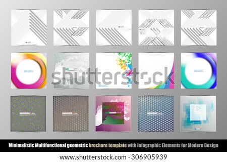 abstract geometric brochure