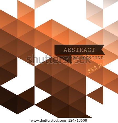Abstract geometric brown background for design