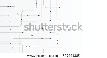 Abstract geometric Circuit connect lines and dots.Simple technology graphic background.Illustration Vector design Network technology and Connection concept.