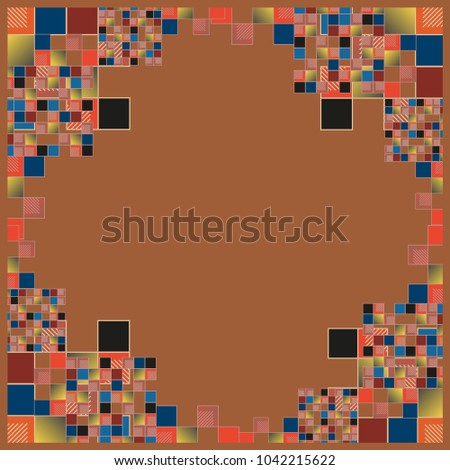 abstract geometric colored