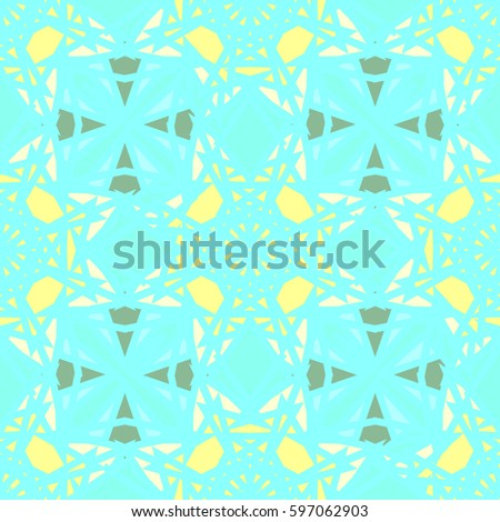 Abstract geometric colorful seamless pattern for background. Decorative backdrop can be used for wallpaper, pattern fills, web page background, surface textures. Old vintage retro energy pattern. #597062903