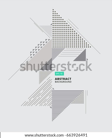 Abstract geometric composition forms modern background with decorative triangles and patterns backdrop vector illustration for print, ad, magazine,