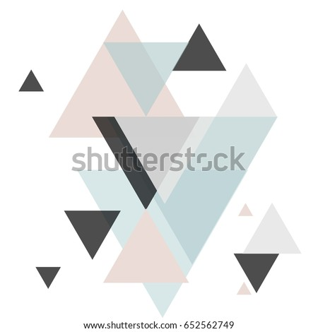 Abstract geometric composition with decorative triangles.Abstract colorful geometric isometric background, can be used for wallpaper, template, poster, backdrop, book cover, brochure, leaflet, vector