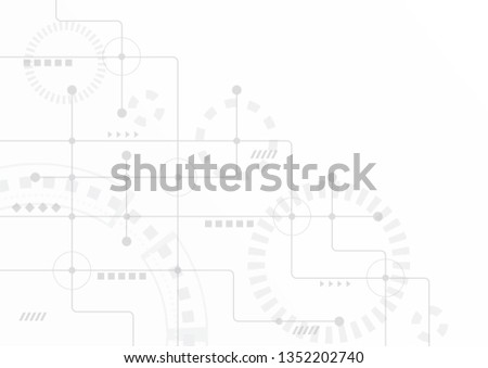Abstract geometric connect lines and dots.Simple technology graphic background.Illustration Vector design Network and Connection concept. #1352202740