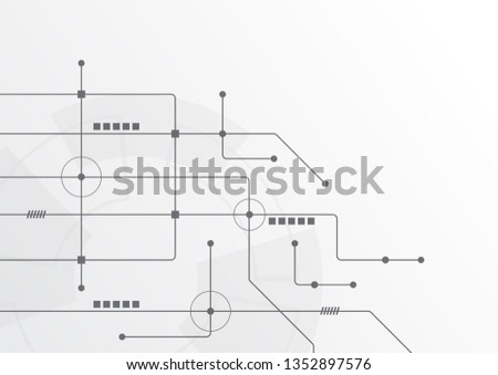 Abstract geometric connect lines and dots.Simple technology graphic background.Illustration Vector design Network and Connection concept. #1352897576