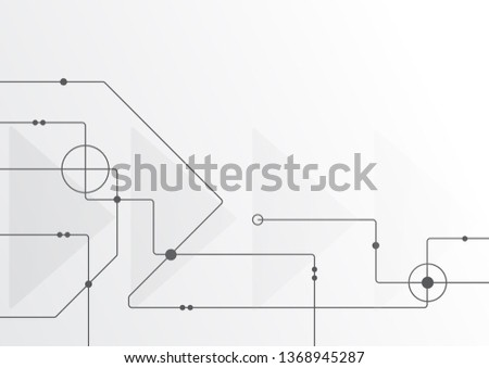 Abstract geometric connect lines and dots.Simple technology graphic background.Illustration Vector design Network and Connection concept. #1368945287