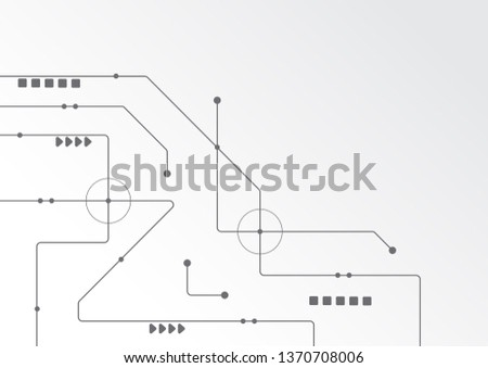 Abstract geometric connect lines and dots.Simple technology graphic background.Illustration Vector design Network and Connection concept. #1370708006