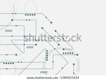 Abstract geometric connect lines and dots.Simple technology graphic background.Illustration Vector design Network and Connection concept. #1389025634