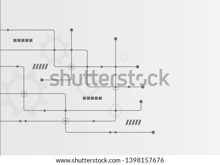 Abstract geometric connect lines and dots.Simple technology graphic background.Illustration Vector design Network and Connection concept. #1398157676