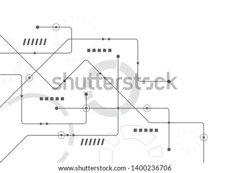 Abstract geometric connect lines and dots.Simple technology graphic background.Illustration Vector design Network and Connection concept. #1400236706