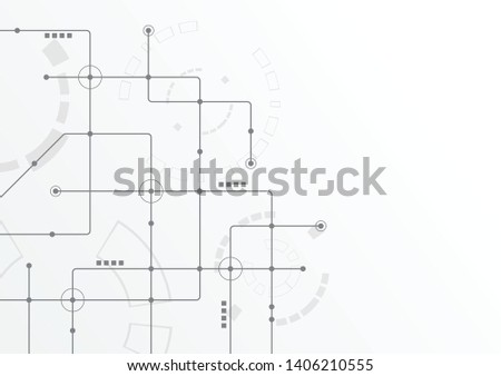 Abstract geometric connect lines and dots.Simple technology graphic background.Illustration Vector design Network and Connection concept. #1406210555