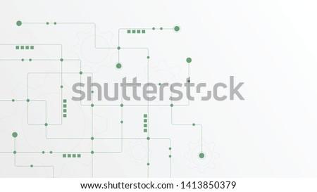 Abstract geometric connect lines and dots.Simple technology graphic background.Illustration Vector design Network and Connection concept. #1413850379