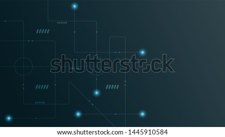 Abstract geometric connect lines and dots.Simple technology graphic background.Illustration Vector design Network and Connection concept. #1445910584