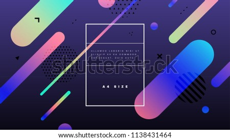 Abstract geometric cover background with trendy colors and shapes. Esp10 vector illustration