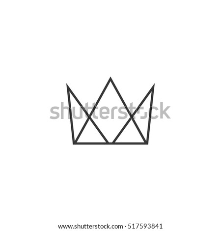 Abstract geometric crown